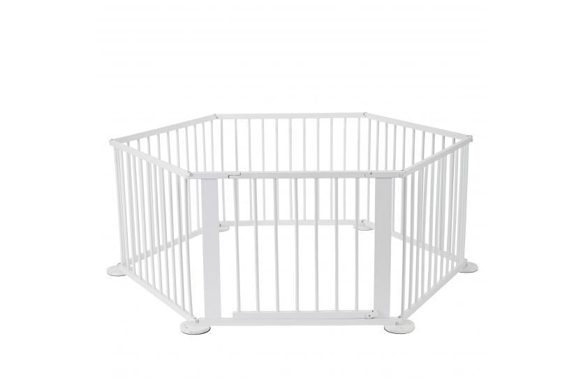 baby laufstall t85 absperrgitter laufgitter 5 4m wei lackiert mit t re ebay. Black Bedroom Furniture Sets. Home Design Ideas