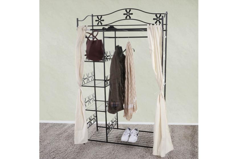 kleiderschrank genf metall garderobe metallregal garderobenst nder172x100x43cm. Black Bedroom Furniture Sets. Home Design Ideas