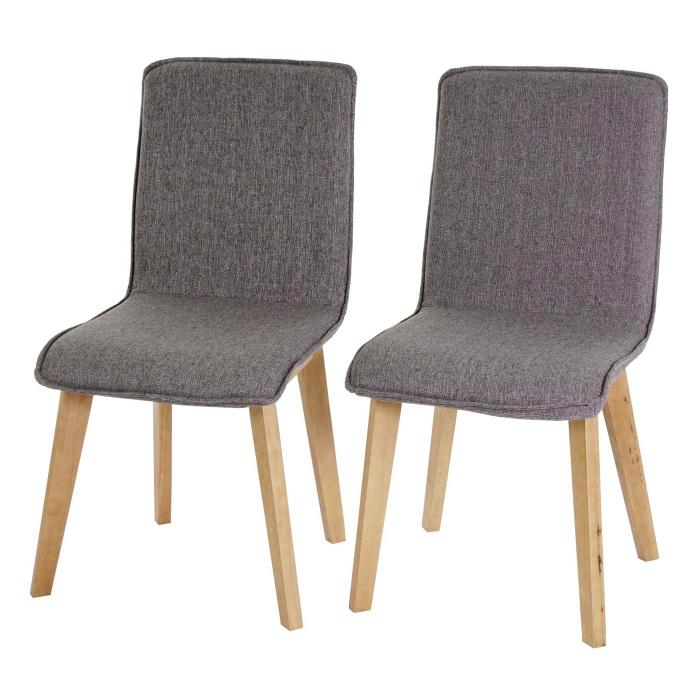 6x esszimmerstuhl zadar lehnstuhl retro 50er jahre design textil grau mit naht. Black Bedroom Furniture Sets. Home Design Ideas