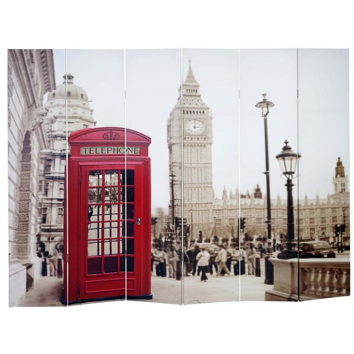 foto paravent vintage paravent raumteiler trennwand 180x240cm london. Black Bedroom Furniture Sets. Home Design Ideas