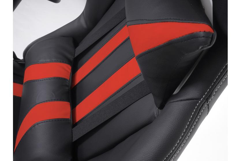 B rostuhl h414 xxl drehstuhl racer 150kg belastbar kunstleder schwarz rot ebay - Burostuhl 150 kg belastbar ...