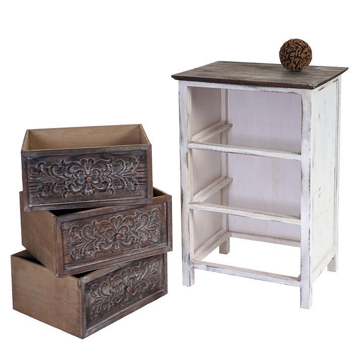 kommode galway schubladenkommode schrank shabby look. Black Bedroom Furniture Sets. Home Design Ideas