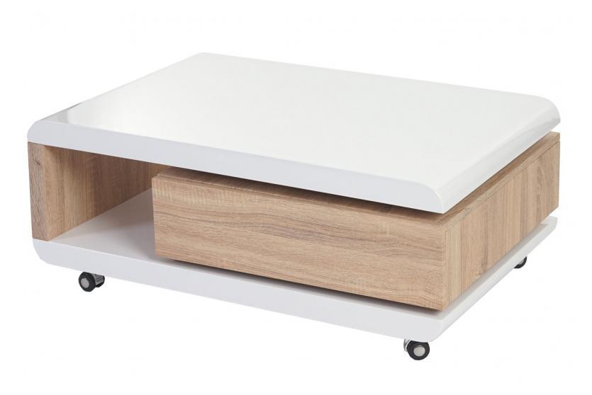 couchtisch torda wohnzimmertisch hochglanz drehbar. Black Bedroom Furniture Sets. Home Design Ideas