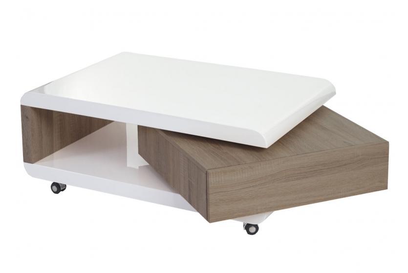 couchtisch torda wohnzimmertisch mit schublade hochglanz. Black Bedroom Furniture Sets. Home Design Ideas
