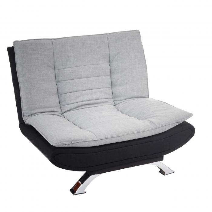 sessel lissabon loungesessel textil grau schwarz. Black Bedroom Furniture Sets. Home Design Ideas