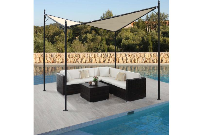 pergola girona garten pavillon sonnensegel stabiles 5cm. Black Bedroom Furniture Sets. Home Design Ideas