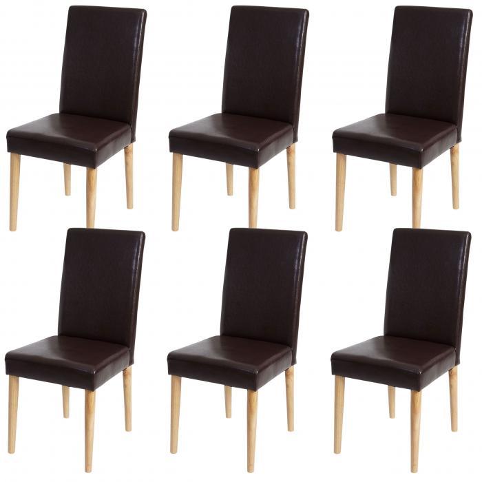 6x esszimmerstuhl leslau stuhl lehnstuhl kunstleder. Black Bedroom Furniture Sets. Home Design Ideas