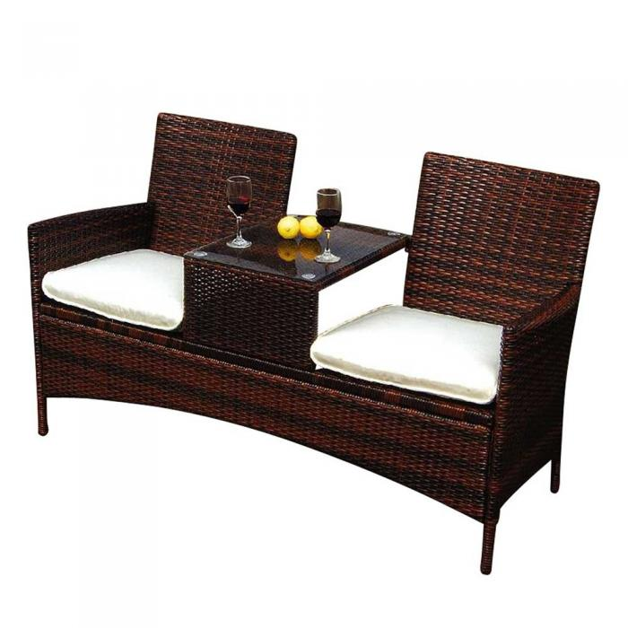 poly rattan doppelbank fg37 gartenbank gartenstuhl. Black Bedroom Furniture Sets. Home Design Ideas