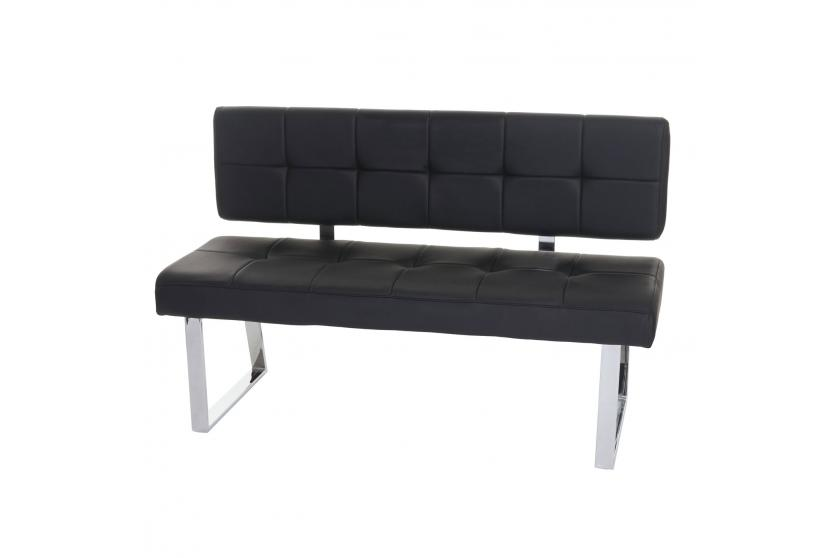 sitzbank konya polsterbank 140cm kunstleder schwarz mit r ckenlehne ebay. Black Bedroom Furniture Sets. Home Design Ideas