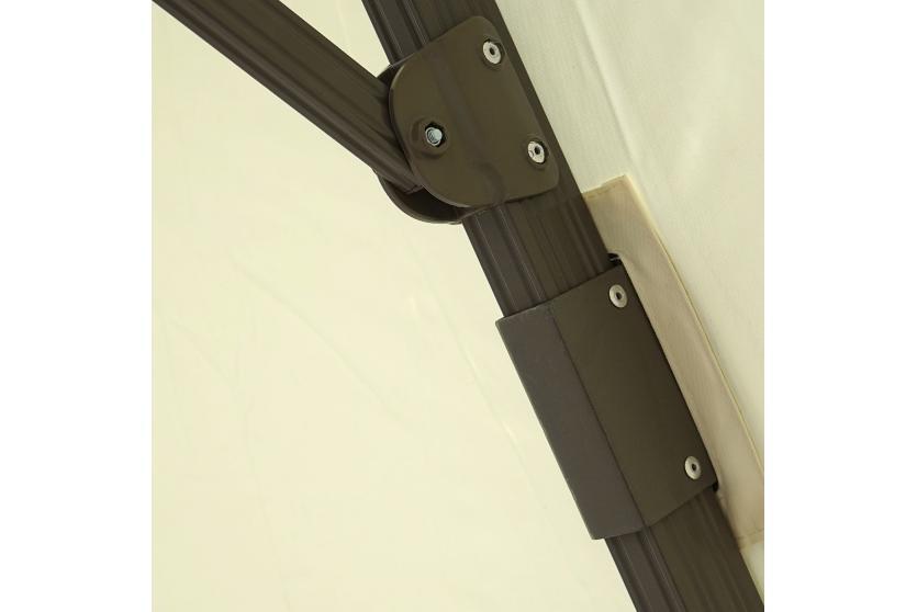 luxus ampelschirm bora creme wei mit st nder neigbar. Black Bedroom Furniture Sets. Home Design Ideas