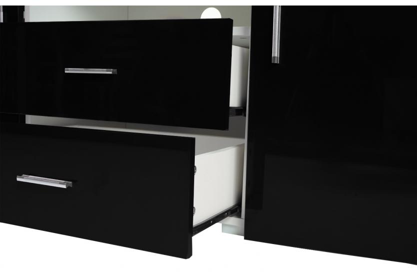 kommode portland sideboard highboard hochglanz. Black Bedroom Furniture Sets. Home Design Ideas