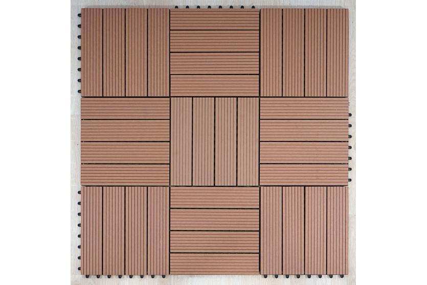 wpc 35 holzfliese terrassenfliese f outdoor 11 fliesen 1m vers 3 natur ebay. Black Bedroom Furniture Sets. Home Design Ideas