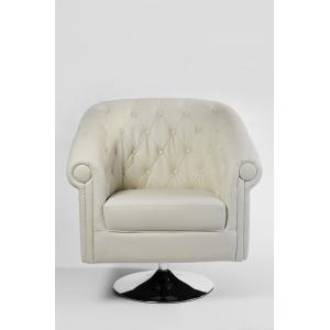 Chesterfield Lounger, Kunstleder ~ creme