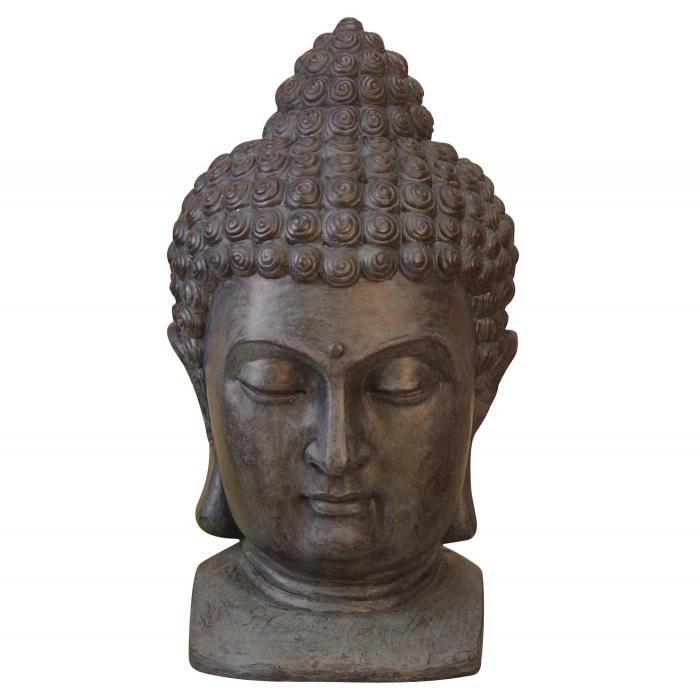 Buddhakopf h50 deko figur kunststein 50x27x29cm Buddha kopf deko
