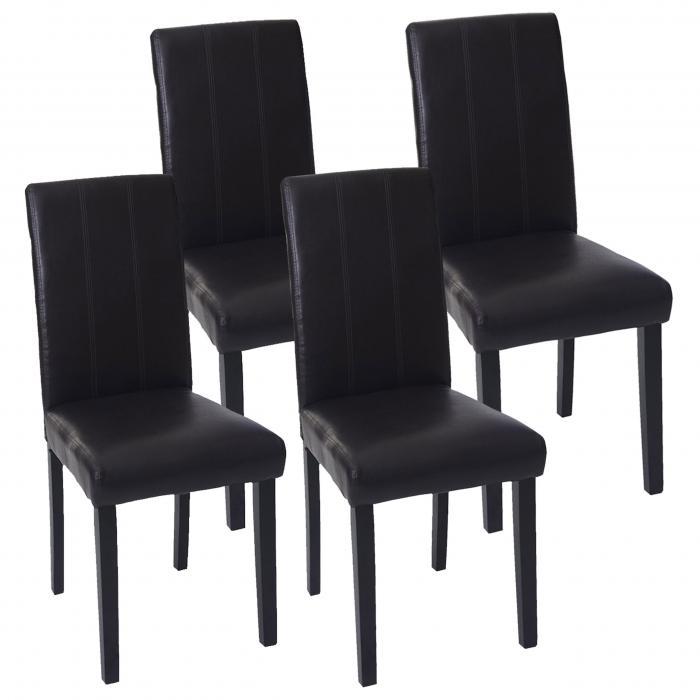 4x esszimmerstuhl florina stuhl lehnstuhl kunstleder. Black Bedroom Furniture Sets. Home Design Ideas