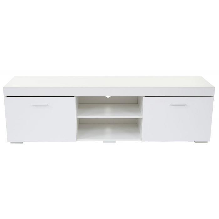 tv rack portland fernsehtisch lowboard hochglanz 140x40x40cm wei. Black Bedroom Furniture Sets. Home Design Ideas