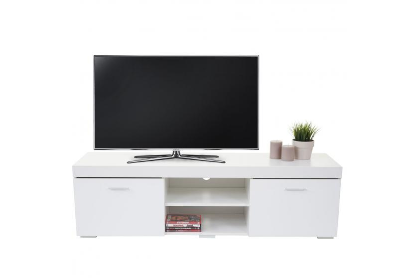 tv rack winslow fernsehtisch lowboard hochglanz 140x40x40cm wei ebay. Black Bedroom Furniture Sets. Home Design Ideas