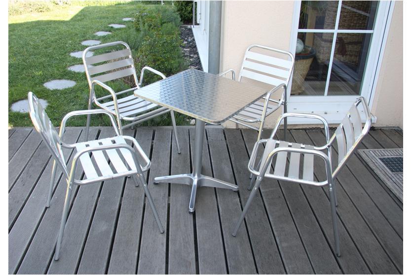 10x gartenstuhl alu bistrostuhl stuhl set stapelbar. Black Bedroom Furniture Sets. Home Design Ideas