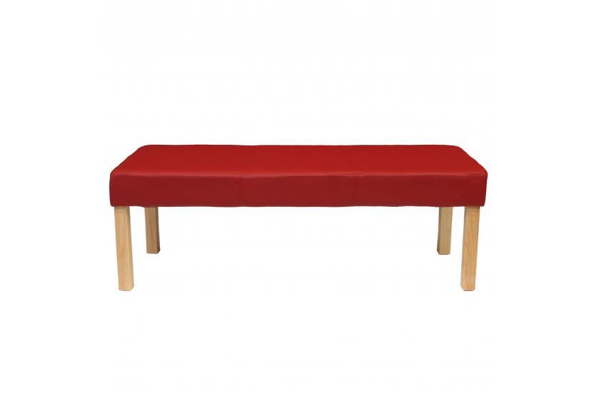 sitzbank polsterbank bank m37 kunstleder 120x43x49 cm rot. Black Bedroom Furniture Sets. Home Design Ideas