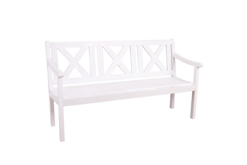 gartenbank bank parkbank mazara 3 sitzer 160 cm holz gastroqualit t wei. Black Bedroom Furniture Sets. Home Design Ideas