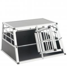 Hundebox Transportbox Alubox Hundetransportbox ~ 50x89x69cm