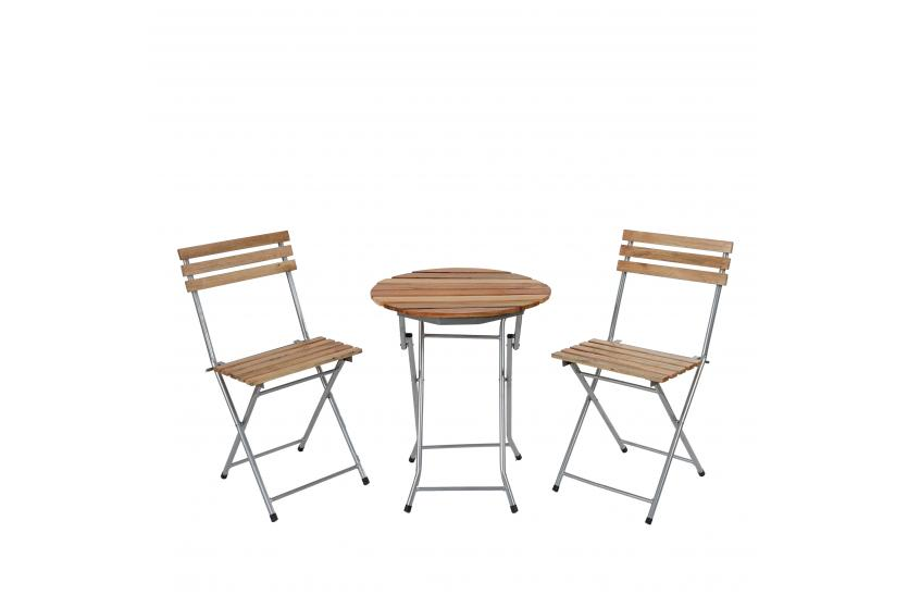 biergarten garnitur berlin bistro garten set tisch st hle ge lt natur ebay. Black Bedroom Furniture Sets. Home Design Ideas