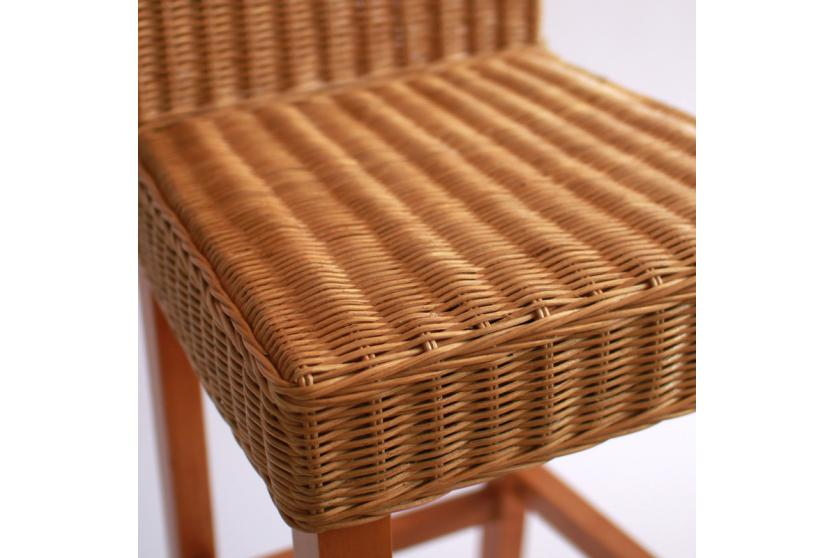 2x barhocker barstuhl m80 rattan natur ebay. Black Bedroom Furniture Sets. Home Design Ideas