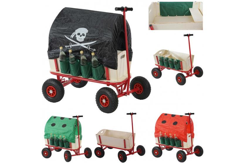 bollerwagen mit flaschenhalter handwagen leiterwagen opt mit bremse sitz dach ebay. Black Bedroom Furniture Sets. Home Design Ideas