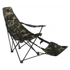 Klappsessel LD43, Campingsessel Anglersessel, mit Fu�teil und Getr�nkehalterung ~ camouflage