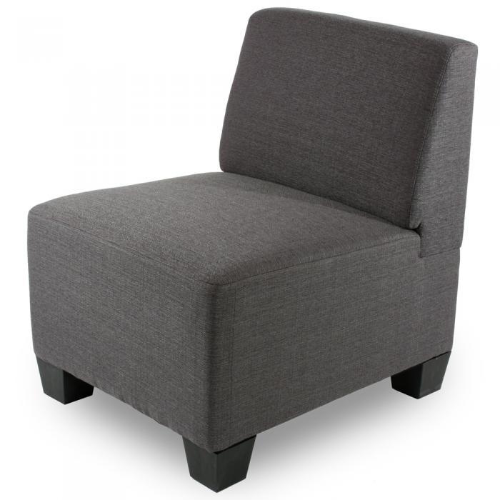 Modular sessel ohne armlehnen mittelteil lyon textil for Fauteuil de bureau sans accoudoir