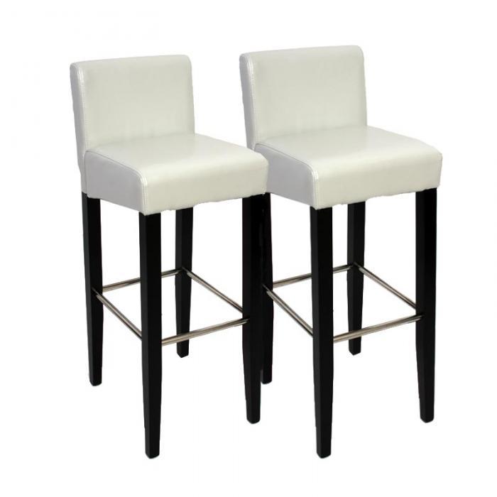 2x barhocker barstuhl n25 leder 102x44x37 cm wei. Black Bedroom Furniture Sets. Home Design Ideas