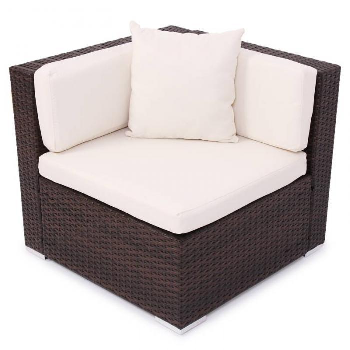 modulares poly rattan alu sofa romv braun meliert ecksofa. Black Bedroom Furniture Sets. Home Design Ideas
