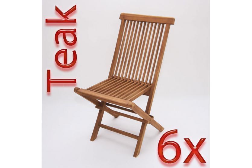 6x klappstuhl gartenstuhl modena 90x62x45 cm teak ebay. Black Bedroom Furniture Sets. Home Design Ideas