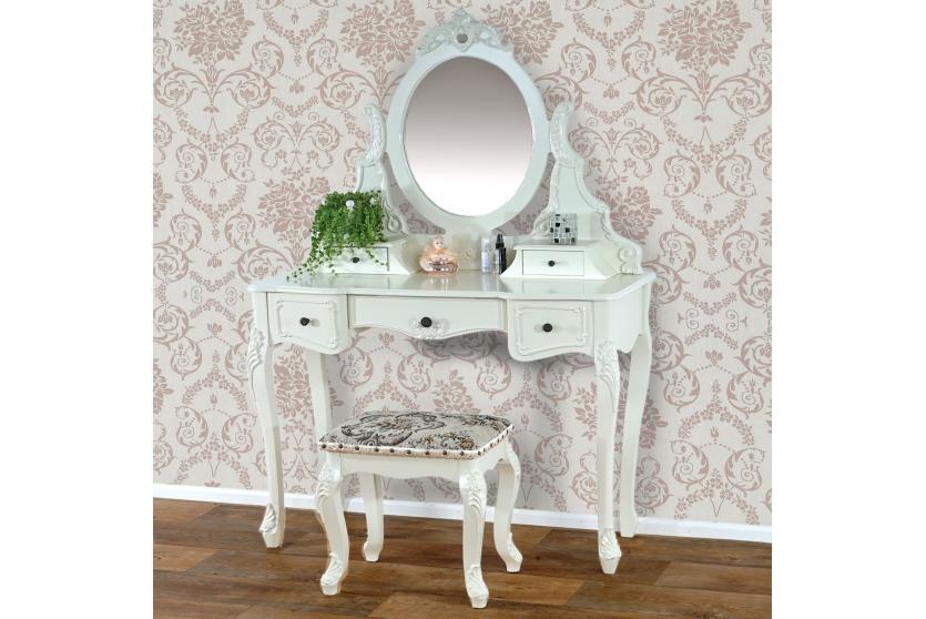 kommode schminktisch venedig schrank barock antik creme wei oder antik wei ebay. Black Bedroom Furniture Sets. Home Design Ideas