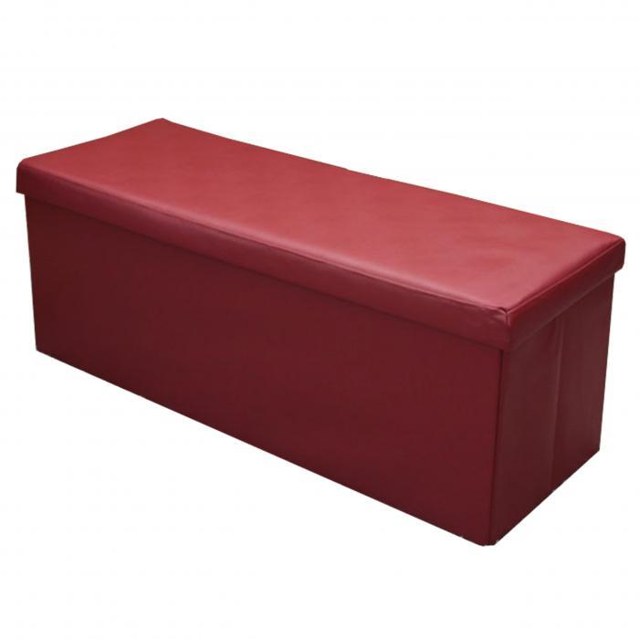 sitzhocker sitzbank mit stauraum truhe 110x43x40 cm rot. Black Bedroom Furniture Sets. Home Design Ideas