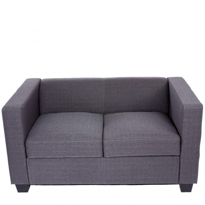 2er Sofa Couch Loungesofa Lille Textil 70x75x137 cm ~ anthrazit