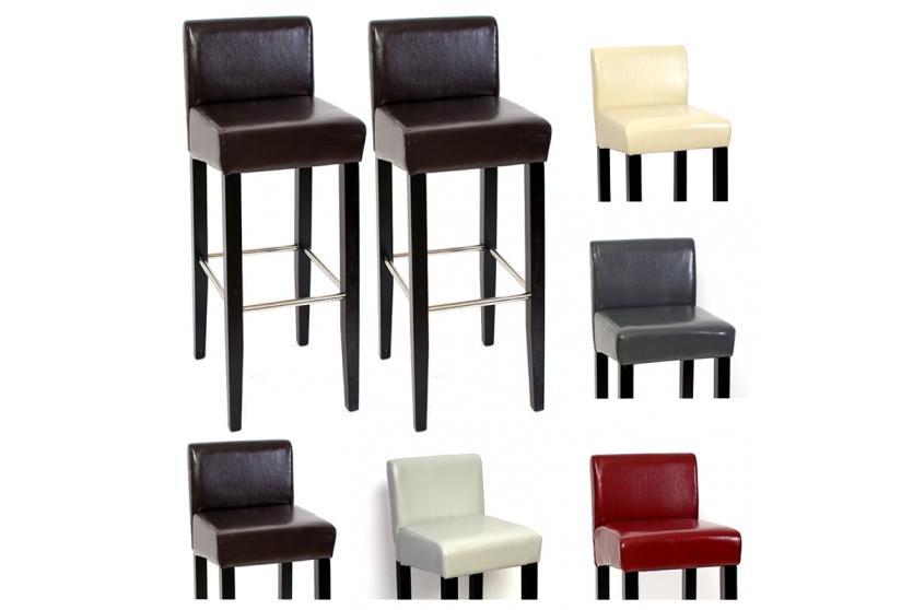 2x barstuhl barhocker n25 holz leder creme schwarz wei rot braun ebay. Black Bedroom Furniture Sets. Home Design Ideas