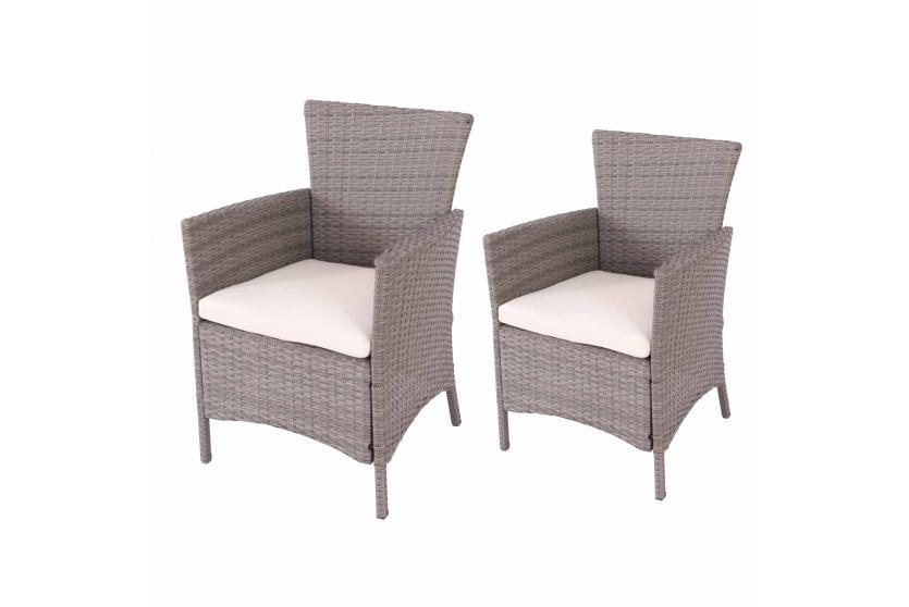 2x gartensessel korbsessel romv 85 5x61x60 cm poly rattan. Black Bedroom Furniture Sets. Home Design Ideas