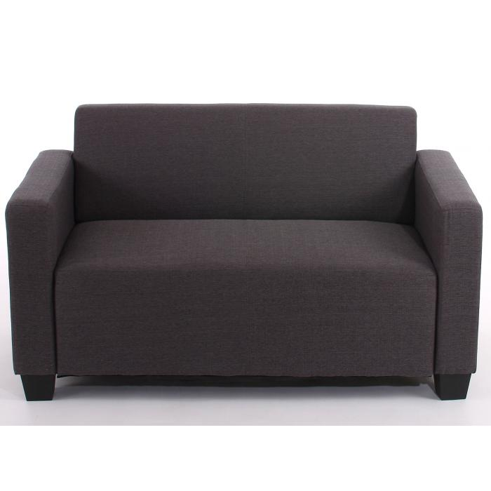 2er Sofa Couch Lyon Loungesofa Textil ~ anthrazit