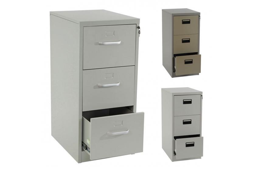 h ngeregisterschrank boston aktenschrank b roschrank 103x46x62cm beige grau ebay. Black Bedroom Furniture Sets. Home Design Ideas
