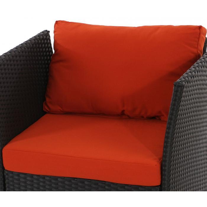 Sitz und r ckenkissen f r poly rattan sofa siena for Coussin sofa exterieur