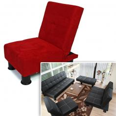 B-Ware| Sessel Relaxliege Sofa Schlafcouch G�stebett Melbourne ~ rot, Mikrofaser