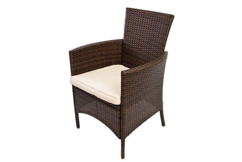 garten garnitur sitzgruppe romv poly rattan tisch 2x sessel mit glasplatte ebay. Black Bedroom Furniture Sets. Home Design Ideas
