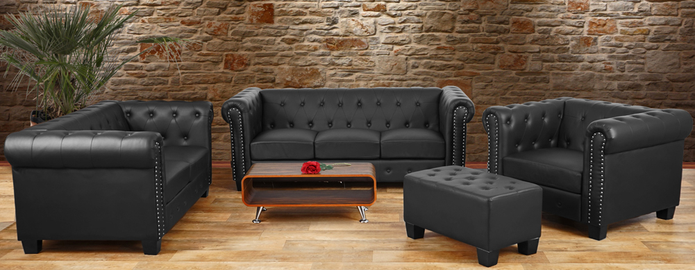 Sofagarnitur Chesterfield