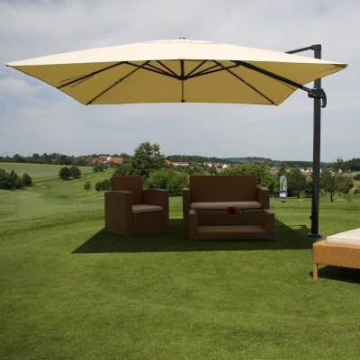 Fabulous Luxus Ampelschirm aus Holz, Gartenschirm und Sonnenschirm Holz QV61