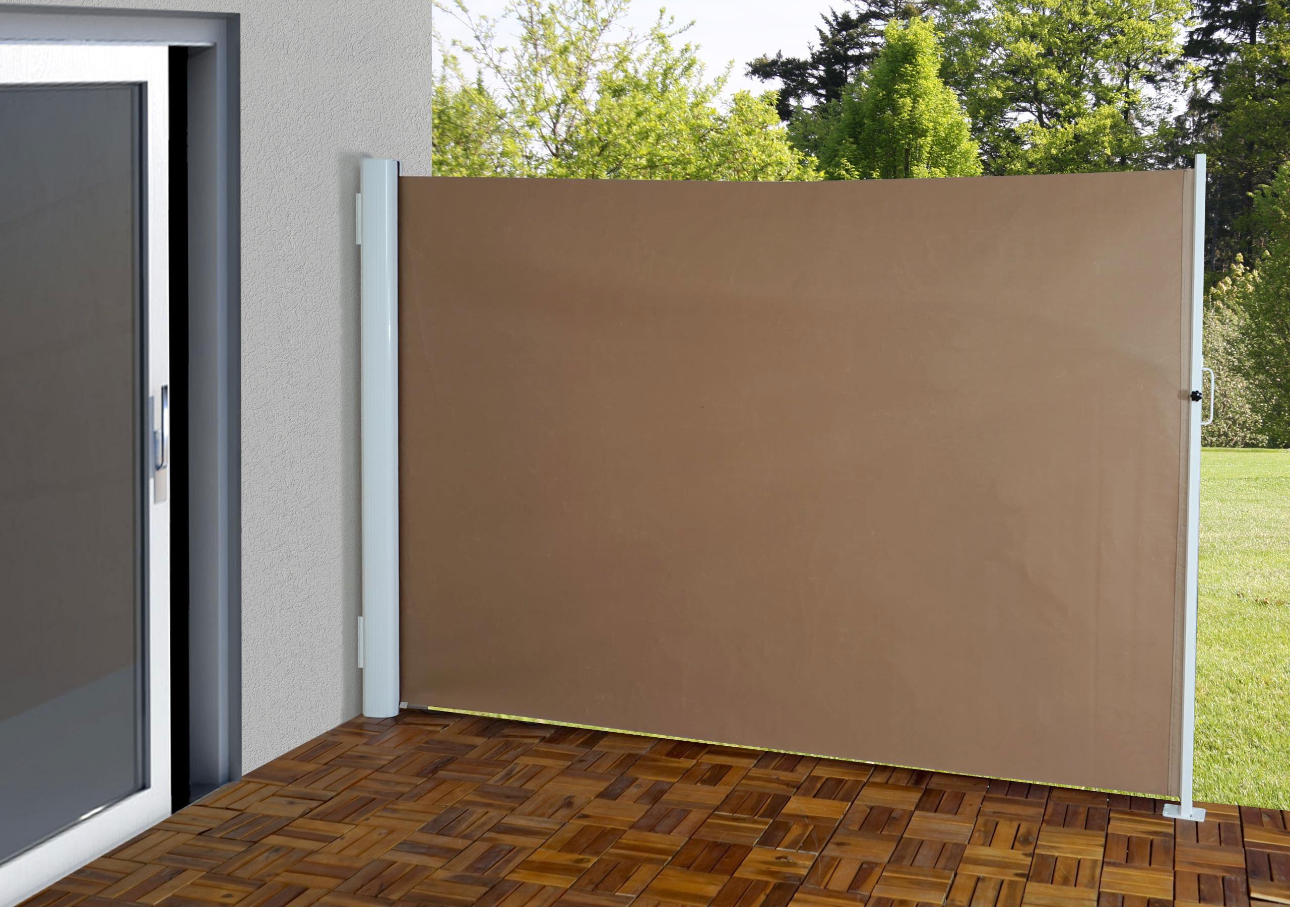 Paravento laterale T139 per esterni poliestere alluminio marrone ...
