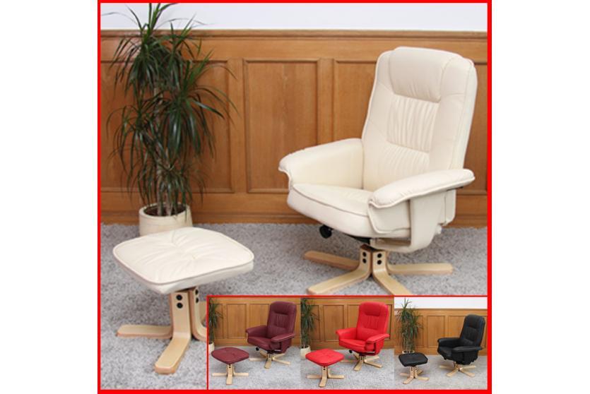 relaxsessel fernsehsessel sessel mit hocker m56 kunstleder bordeaux. Black Bedroom Furniture Sets. Home Design Ideas