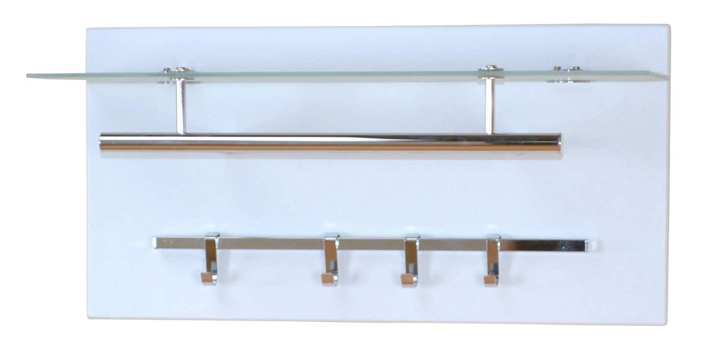 Gewaltig Wandgarderobe Paneel Sammlung Von Wandgarderoben-paneel H13, Garderobe Kleiderhaken, 60x30cm ~ Weiß