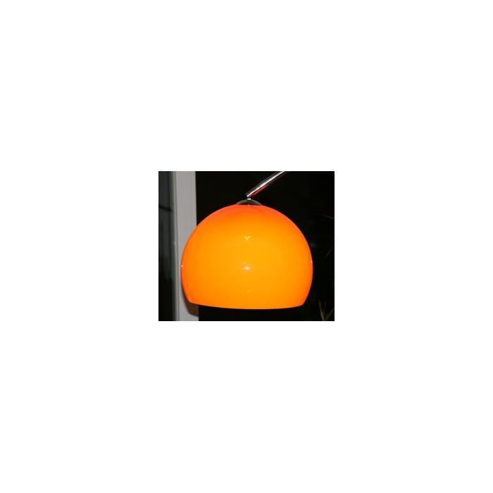schirm f r bogenlampe 40cm kunststoff orange. Black Bedroom Furniture Sets. Home Design Ideas