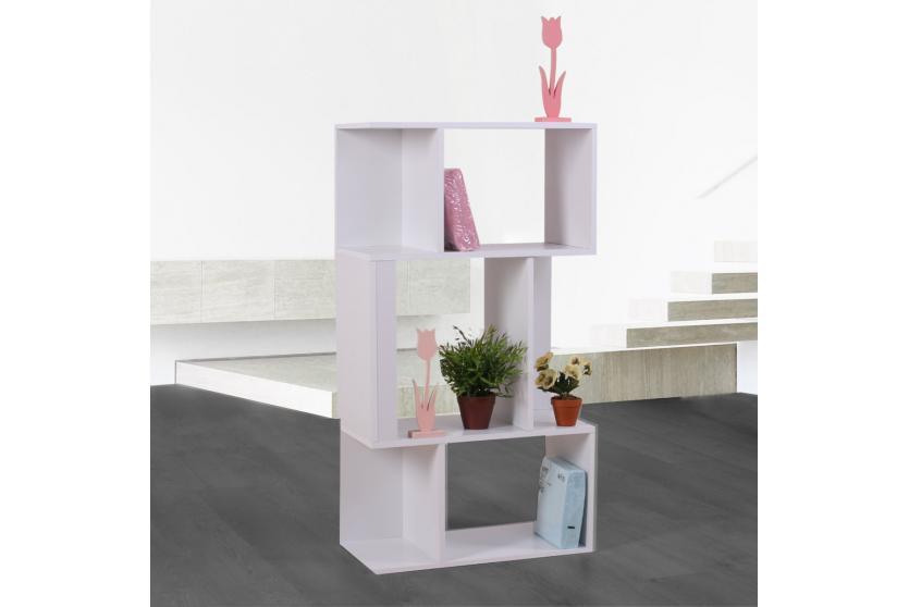 tv rack fernsehtisch standregal aus holz 109x59x30 cm wei. Black Bedroom Furniture Sets. Home Design Ideas